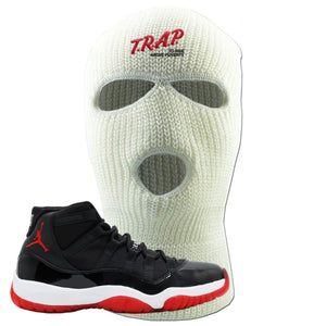 Jordan 11 Bred Trap To Rise Above Poverty White Sneaker Hook Up Ski Mask