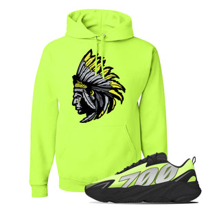 Yeezy 700 MNVN Phosphor Hoodie | Indian Chief, Safety Green