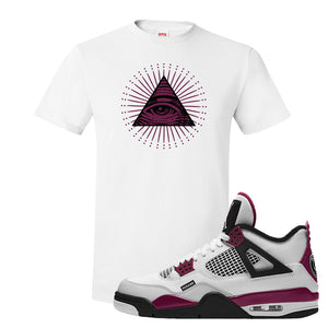 Air Jordan 4 PSG Paname T-Shirt | All Seeing Eye, White