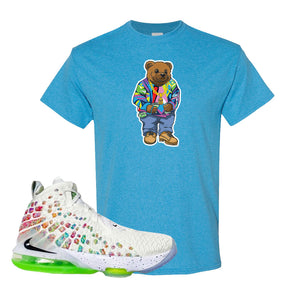 Lebron 17 Air Command Force T Shirt | Heather Sapphire, Sweater Bear