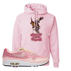 Air Max 1 Strawberry Lemonade Pullover Hoodie | Dont Hate The Playa, Light Pink