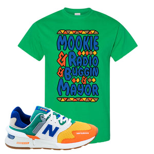 997S Multicolor Sneaker Irish Green T Shirt | Tees to match New Balance 997S Multicolor Shoes | Mookie And Gang