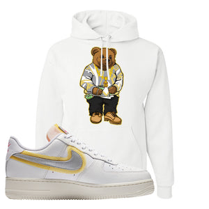 Air Force 1 Low 07 LX White Gold Hoodie | Sweater Bear, White