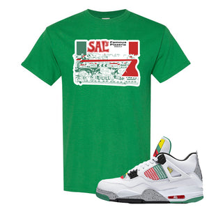 Jordan 4 WMNS Carnival Sneaker Turf Green T Shirt | Tees to match Do The Right Thing 4s | Sal's Pizza Box