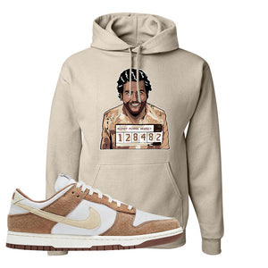 Dunk Low Medium Curry Hoodie | Escobar Illustration, Sand