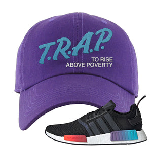 NMD R1 Gradient Dad Hat | Purple, Trap To Rise Above Poverty