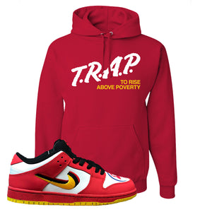 Nike Dunk Low Vietnam 25th Anniversary Pullover Hoodie | Trap To Rise Above Poverty, Red