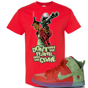 SB Dunk High 'Strawberry Cough' T Shirt | Red, Don't Hate The Player