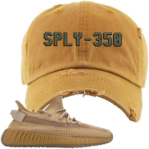 Yeezy Boost 350 V2 Earth Sneaker Distressed Dad Hat To Match | SPLY-350, Timberland