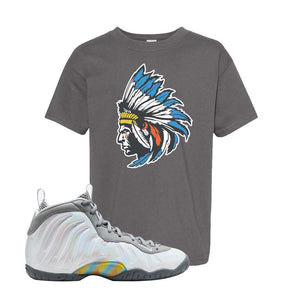 Lil Posite One Rainbow Pixel Kids T Shirt | Smoke Grey, Indian Chief