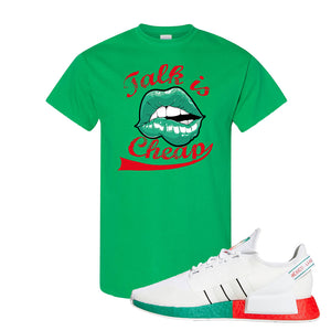NMD R1 V2 Ciudad De Mexico T Shirt | Irish Green, Talk Is Cheap