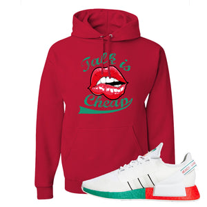 NMD R1 V2 Ciudad De Mexico Hoodie | Red, Talk Is Cheap