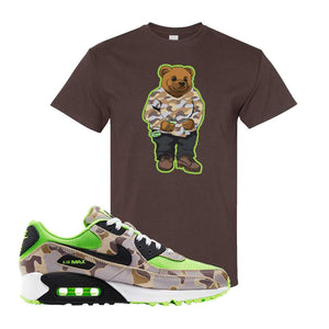 Air Max 90 Duck Camo Ghost Green T Shirt | Dark Chocolate, Sweater Bear
