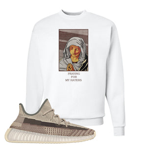 Yeezy 350 v2 Zyon Crewneck | White, God Told Me