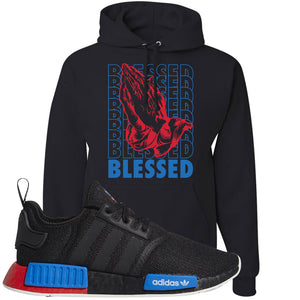 NMD R1 Black Red Boost Matching Hoodie | Sneaker hoodie to match NMD R1s | Blessed, Black