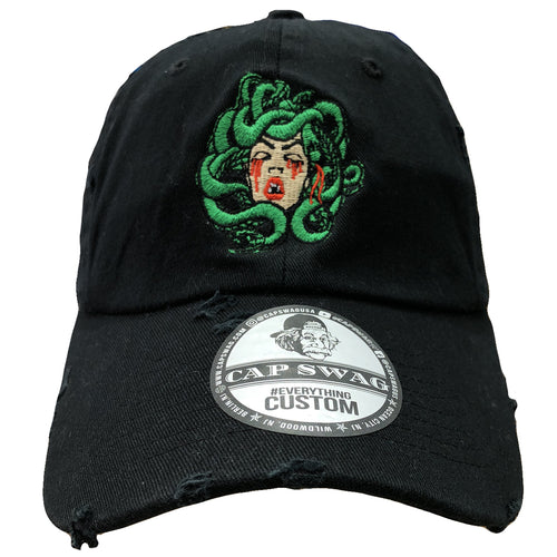 The Foot Clan Medusa don t cry dad hast features a logo of Medusa s head b1d53bbe68f7