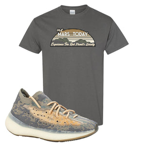 Yeezy Boost 380 Mist Sneaker Charcoal Gray T Shirt | Tees to match Adidas Yeezy Boost 380 Mist Shoes | Visit Mars