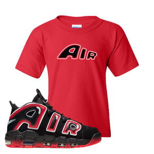 Air More Uptempo Laser Crimson Air From The Sneaker Red Sneaker Hook Up Kid's T-Shirt