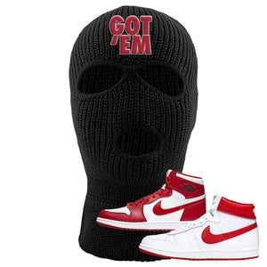 Jordan 1 New Beginnings Pack Sneaker Black Ski Mask | Winter Mask to match Nike Air Jordan 1 New Beginnings Pack Shoes | Got Em