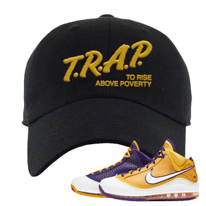 Lebron 7 'Media Day' Dad Hat | Black, Trap To Rise Above Poverty