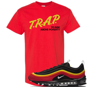 Air Max 97 Black Chile Red Magma Orange White Clothing To Match Sneake Tagged Under 25 Cap Swag