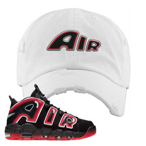 Air More Uptempo Laser Crimson Air From The Sneaker White Sneaker Hook Up Distressed Dad Hat