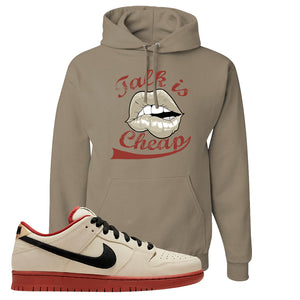 SB Dunk Low Muslin Hoodie | Talk Is Cheap, Khaki