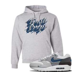 Air Max 1 'London City Pack' Sneaker Ash Pullover Hoodie | Hoodie to match Nike Air Max 1 'London City Pack' Shoes | Fresh Creps Only