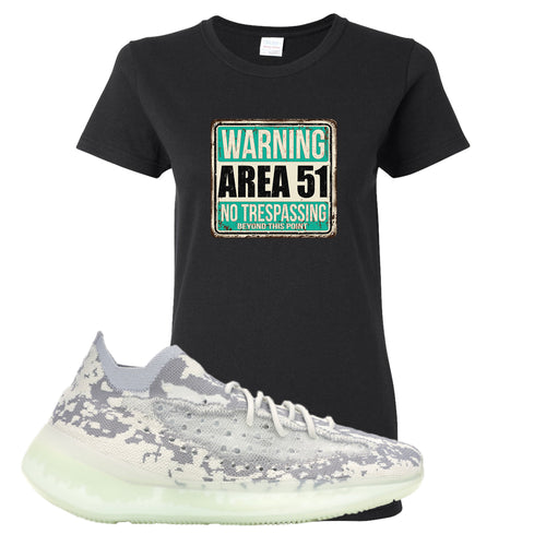 Yeezy Boost 380 Alien Area 51 Sign Black Sneaker Matching Women's T-Shirt