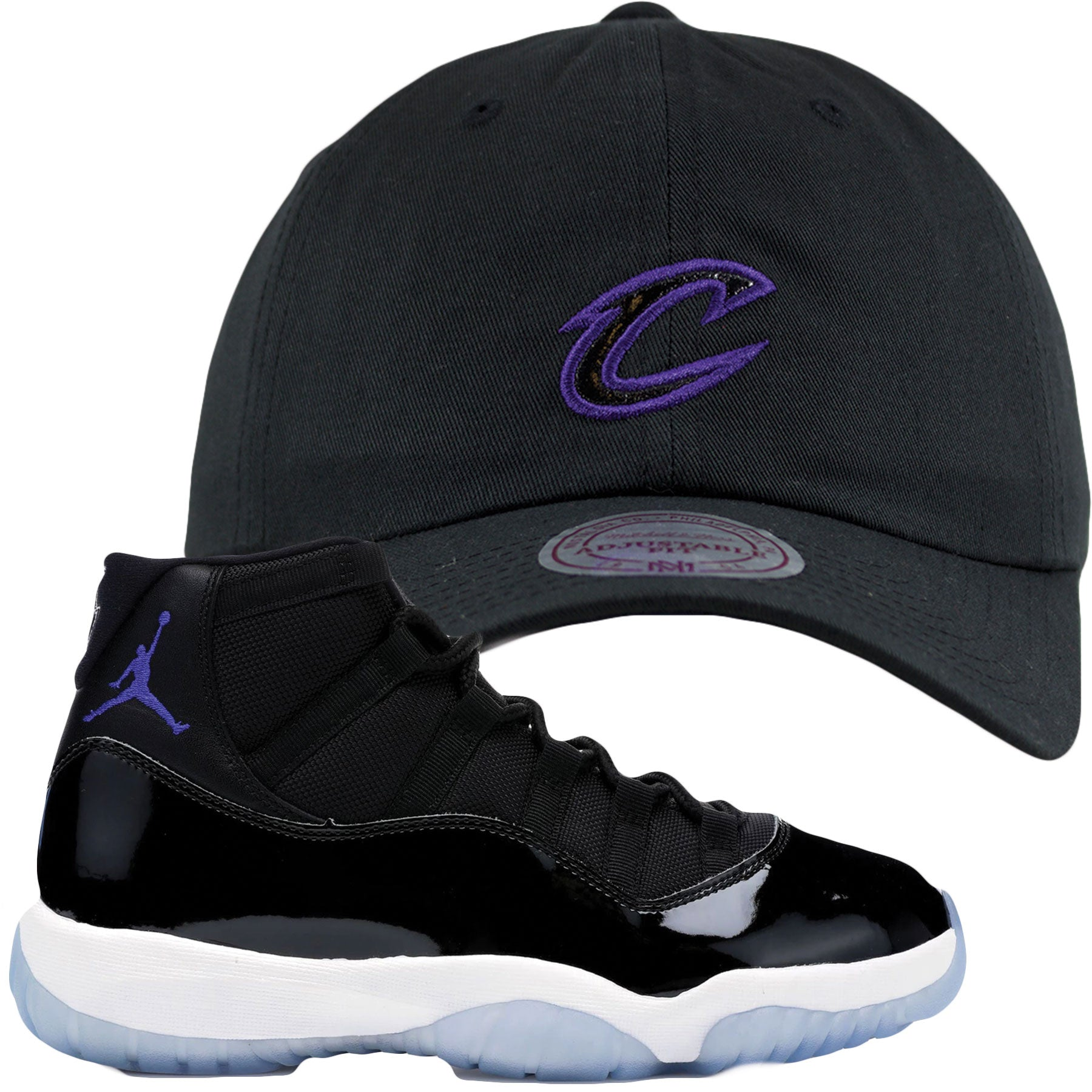 f7aff90c946 Jordan 11 Space Jams Sneaker Matching Cleveland Cavaliers Dad Hat ...