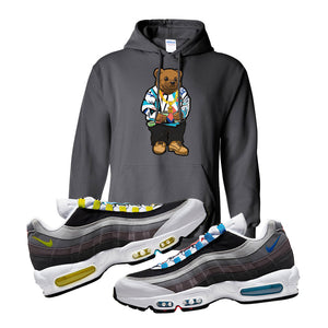 Air Max 95 QS Greedy Hoodie | Charcoal, Sweater Bear
