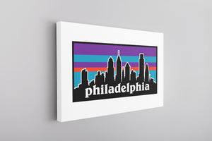 Philagonia Canvas | Philagonia Skyline White Wall Canvas