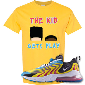The Kid Gets Play Daisy T-Shirt to match Air Max 270 React ENG Laser Blue Sneakers