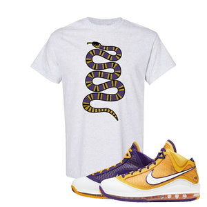 Lebron 7 'Media Day' T Shirt | Ash, Coiled Snake