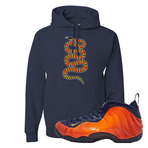 Foamposite One OKC Hoodie | Navy Blue, Coiled Snake