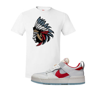 Dunk Low Disrupt Gym Red T Shirt | Indian Chief, White