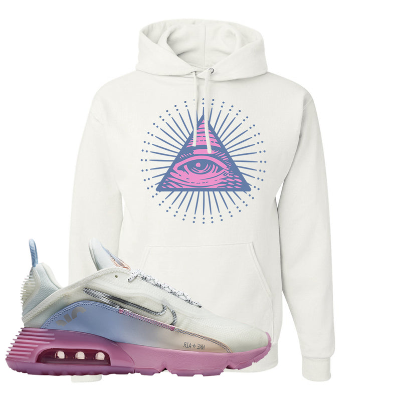 Air Max 2090 Airplane Travel Hoodie | All Seeing Eye, White