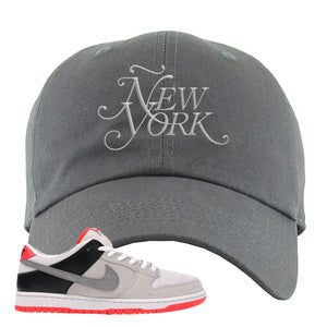 Nike SB Dunk Low Infrared Orange Label Ã'ew York Dark Gray Dad Hat To Match Sneakers