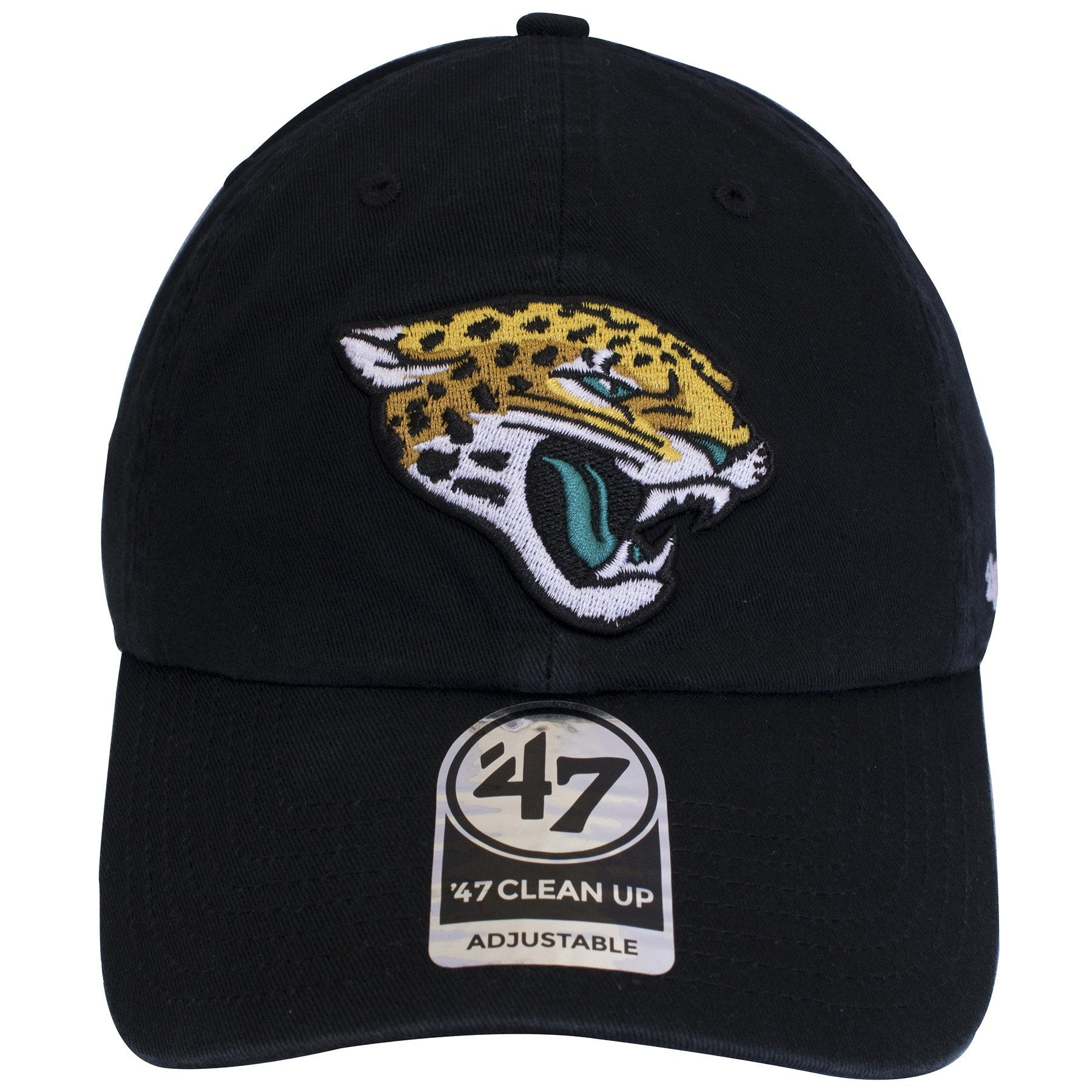 new product 0e3e6 14e9e The Jacksonville Jaguars logo is embroidered on top of a basic black  unstructured dad hat.