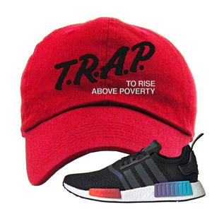 NMD R1 Gradient Dad Hat | Red, Trap To Rise Above Poverty