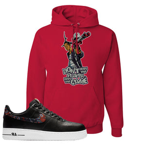 Air Force 1 Low Black Floral Hoodie | Don't Hate The Playa, Red