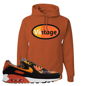 Air Max 90 Orange Camo Hoodie | Vintage Oval, Texas Orange