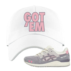 END x Asics Gel-Lyte III Grey And Pink Dad Hat | Got Em, White