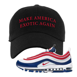 Air Max 97 USA Dad Hat | Black, Make America Exotic Again