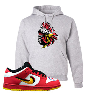 Nike Dunk Low Vietnam 25th Anniversary Pullover Hoodie | Indian Chief, Ash