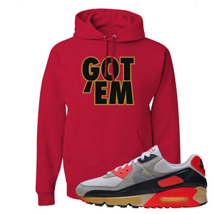 Air Max 90 Infrared Hoodie | Got Em, Red