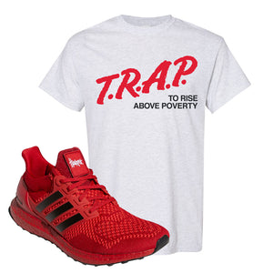 Ultra Boost 1.0 Nebraska T-Shirt | Trap To Rise Above Poverty, Ash