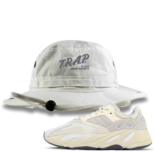 Yeezy Boost 700 Analog Sneaker Match Trap Rise Above White Bucket Hat