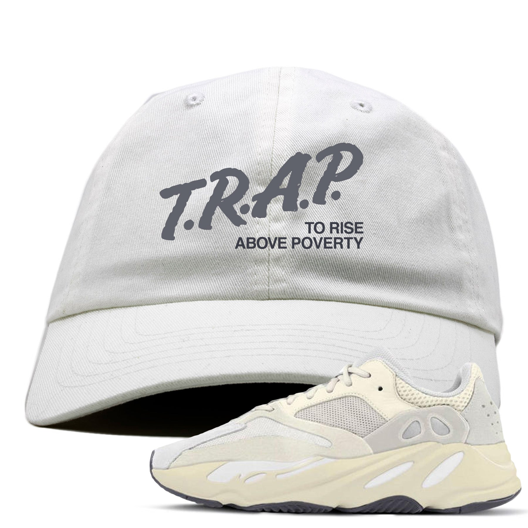 4c2bd0219342f Yeezy Boost 700 Analog Sneaker Match Trap Rise Above White Dad Hat ...