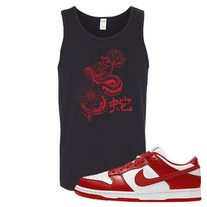 SB Dunk Low St. Johns Tank Top | Snake Lotus, Black